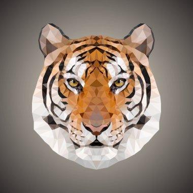 Polygonal tiger. Vector illustration