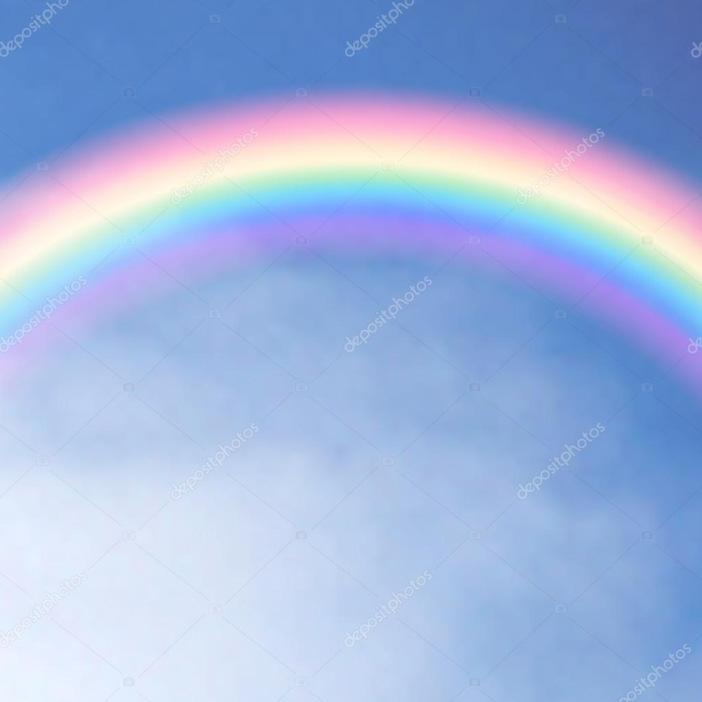 Rainbow in the sky. Vector illustration