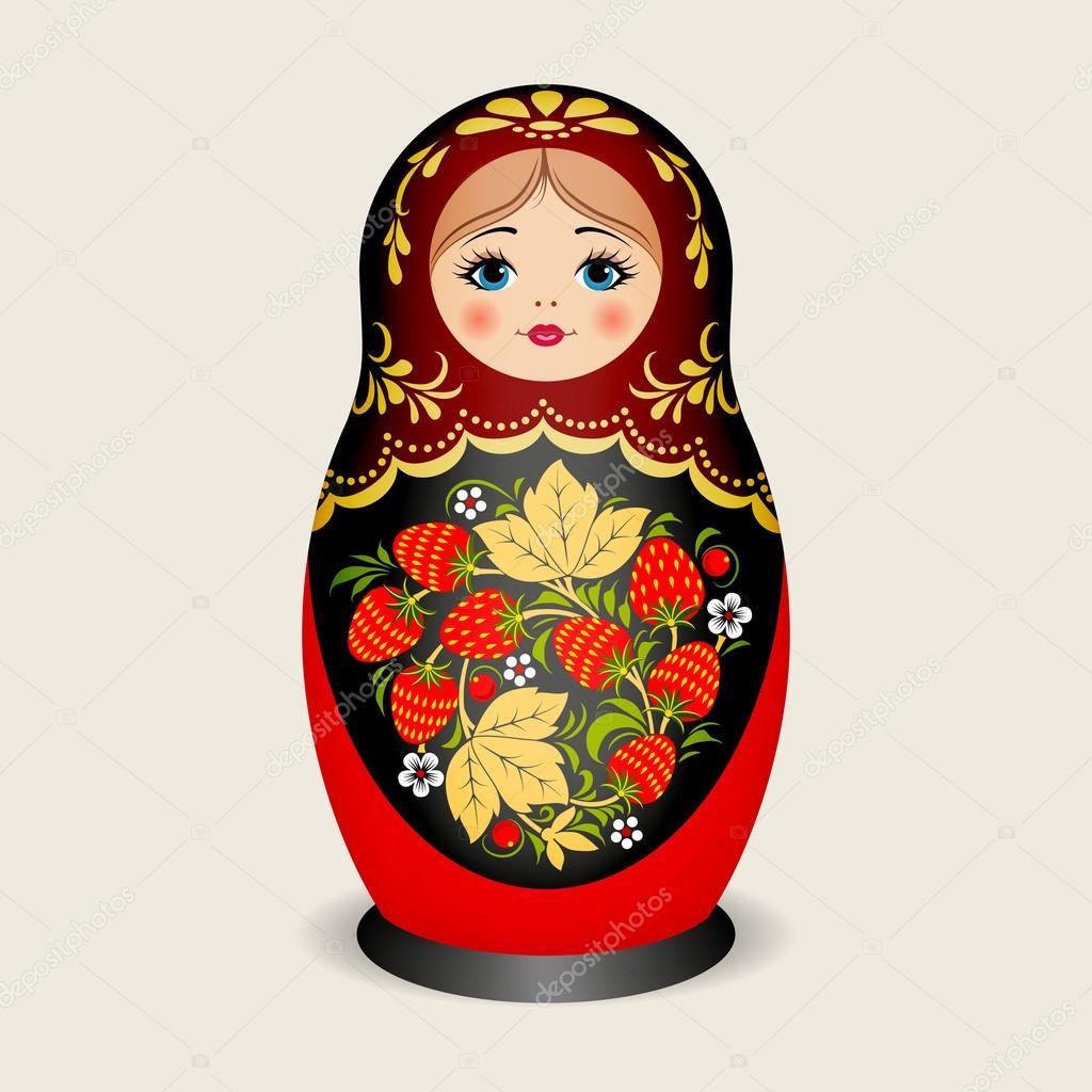 russische puppen matroschka vektor illustration stockvektor 56979989. Black Bedroom Furniture Sets. Home Design Ideas