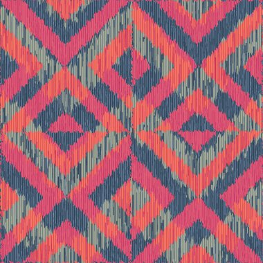 Reverse Double Square ikat pattern