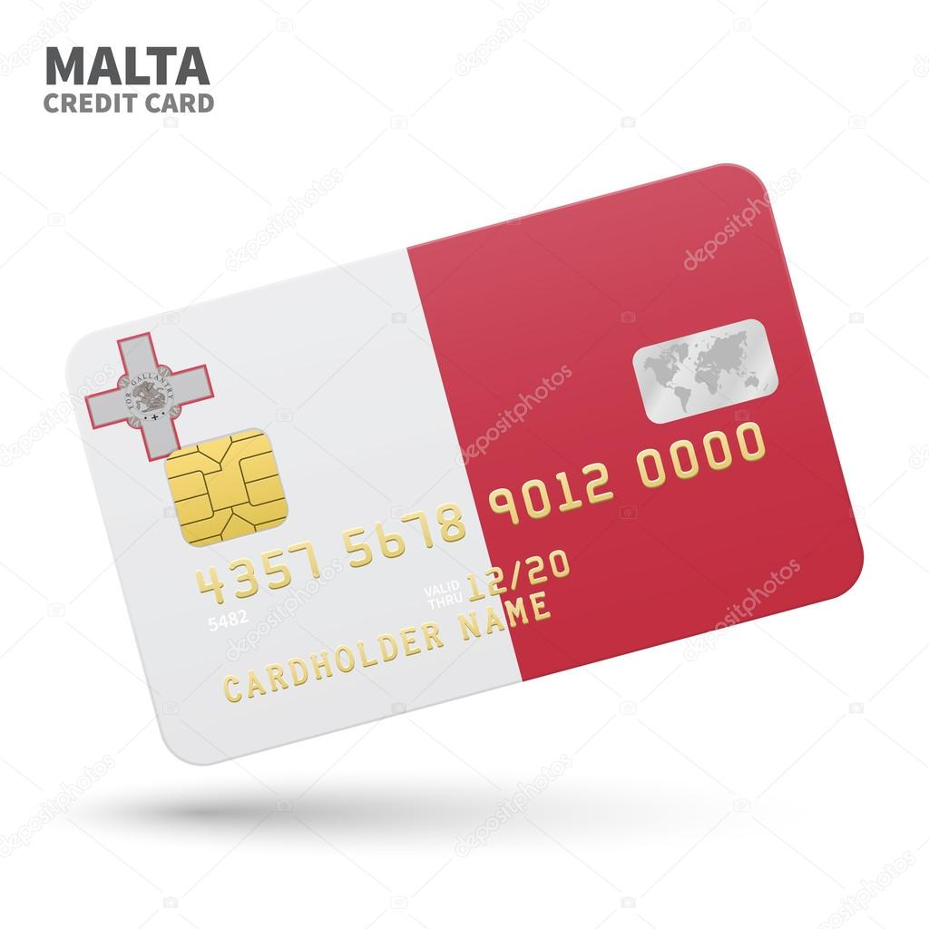Credit card with malta flag background for bank presentations and credit card with malta flag background for bank presentations and business isolated on white reheart Choice Image