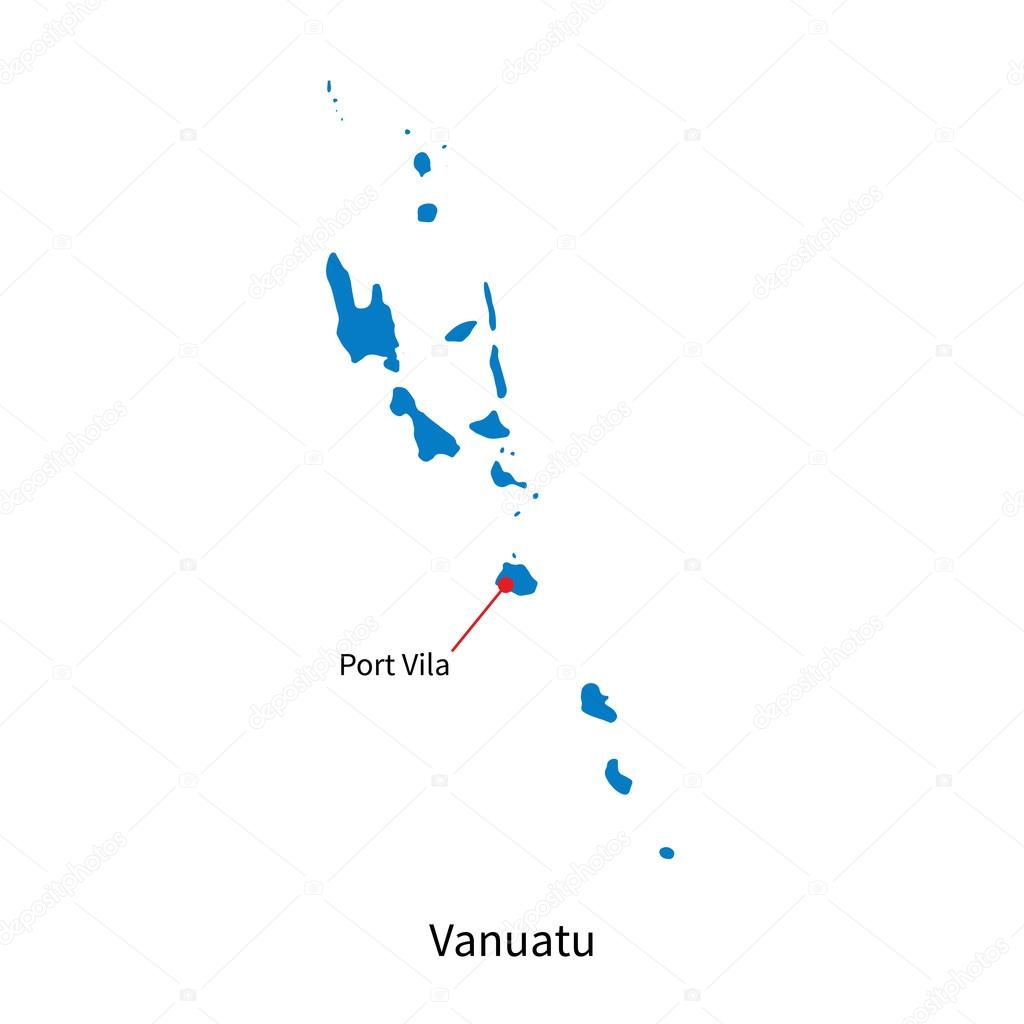 Detailed vector map of vanuatu and capital city port vila stock detailed vector map of vanuatu and capital city port vila stock vector gumiabroncs Images