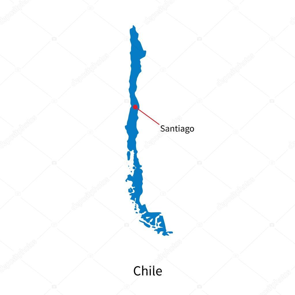 Mapa detallado vector de ciudad santiago de chile y for Calles de santiago de chile