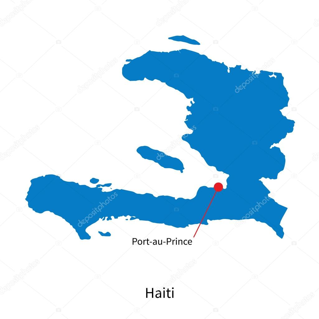 Detailed vector map of haiti and capital city port au prince detailed vector map of haiti and capital city port au prince stock vector gumiabroncs Gallery