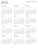 Fényképek 2015-ös európai éves vektor naptár