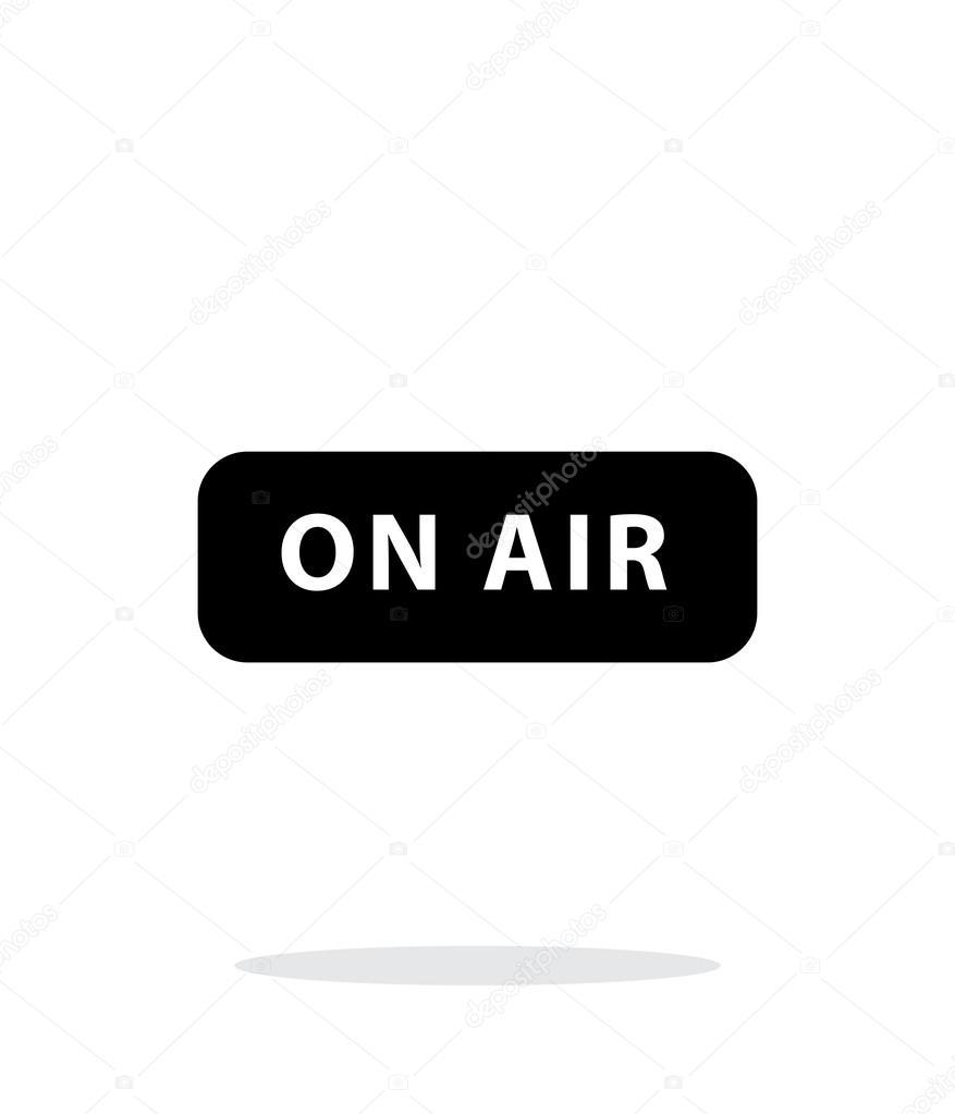 Auf Air-Rundfunk-Symbol auf weißem Hintergrund — Stockvektor ...