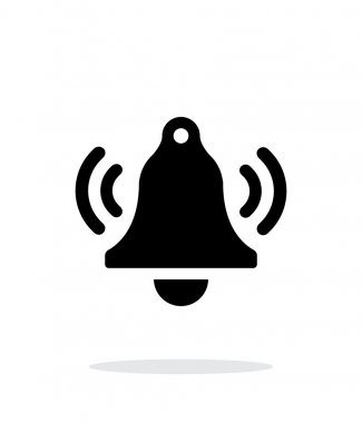 Ringing bell simple icon on white background.