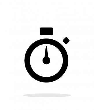 Stopwatch icon on white background.