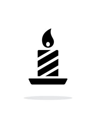 Christmas candle icon on white background.