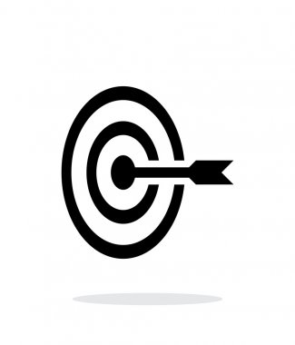 Target icon on white background.