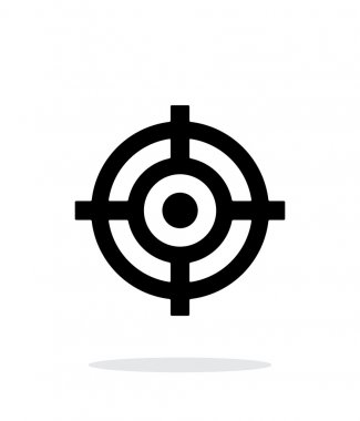 Crosshair icon on white background.