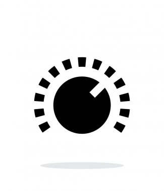 Music knob icon on white background.