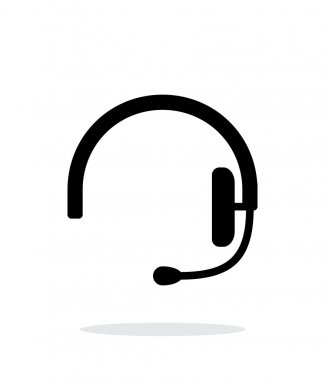 Headset icon on white background.