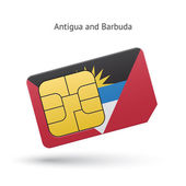 Antigua and Barbuda phone sim card with flag.