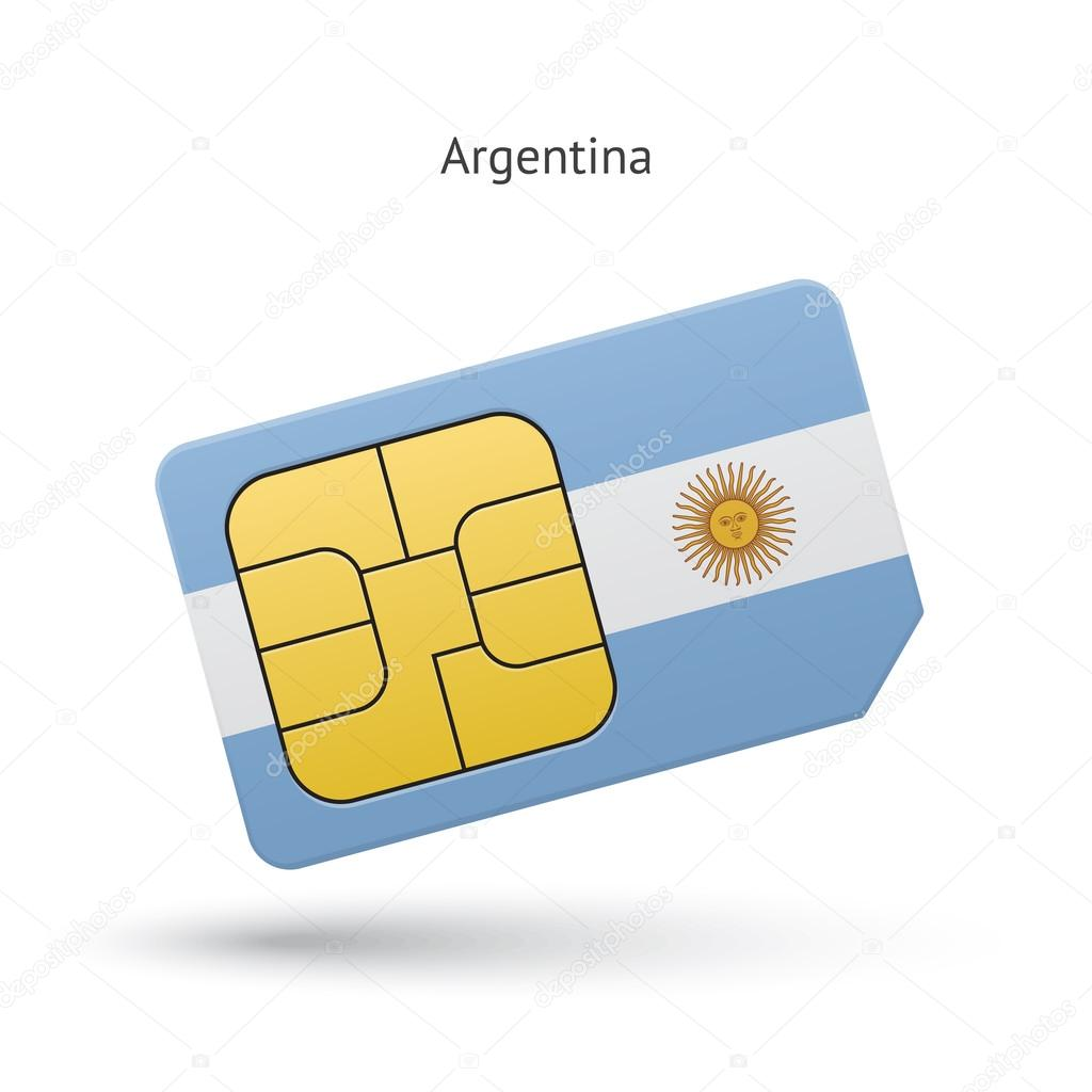 Argentina Mobile Phone Sim Card With Flag Stock Vector C Tkacchuk 64089469