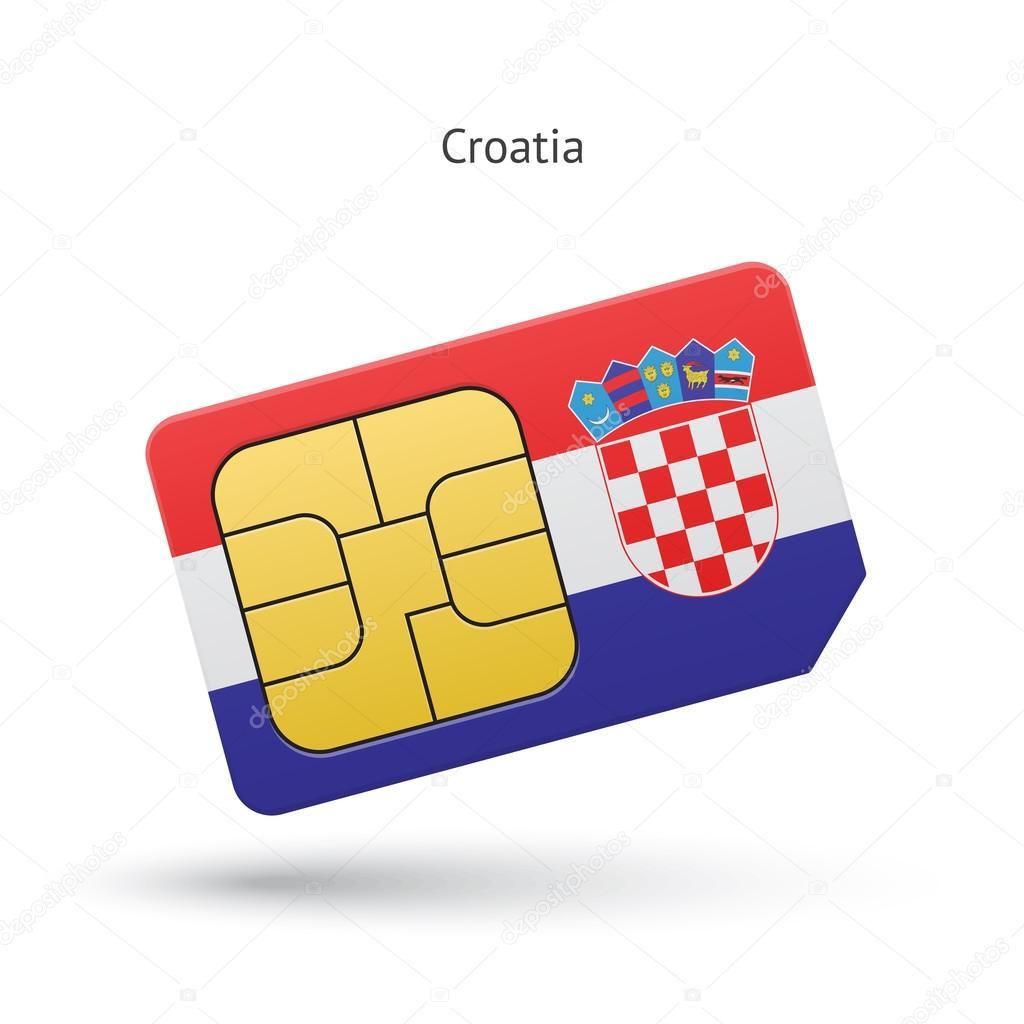 Carte Sim Croatie.Carte De Sim De Telephone Mobile De Croatie Avec Indicateur