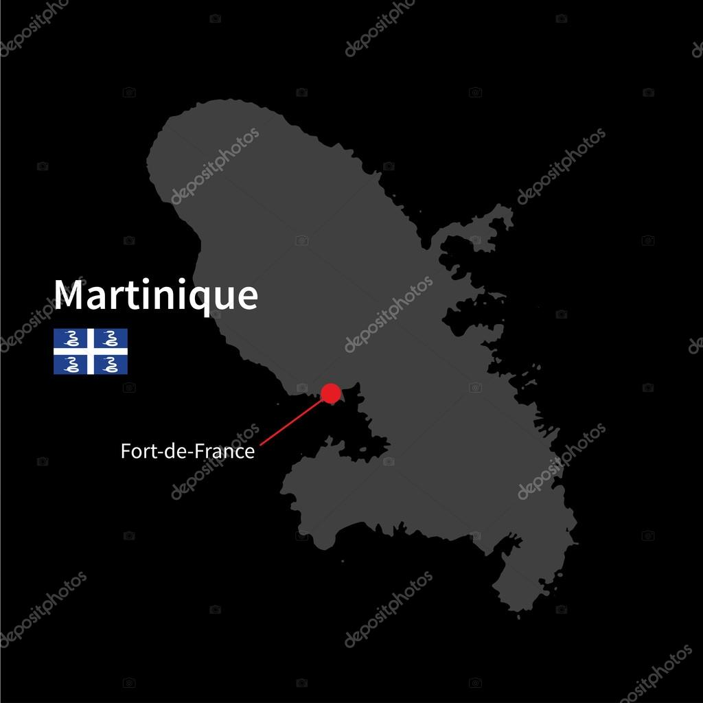 Carte Martinique Detaillee.Carte Detaillee De La Martinique Et De La Capitale Fort De