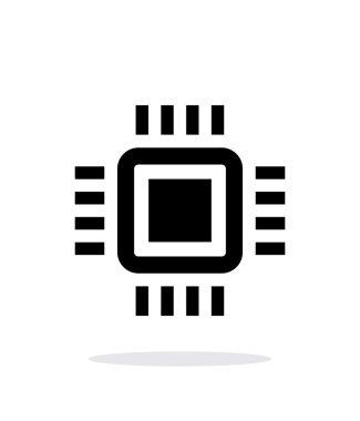 Mini CPU simple icon on white background.