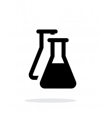 Flasks simple icon on white background.
