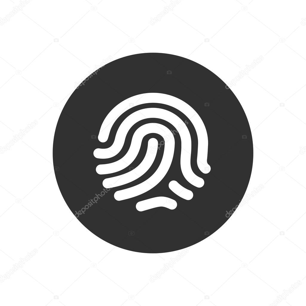 fingerprint identification system id touching secure ストック
