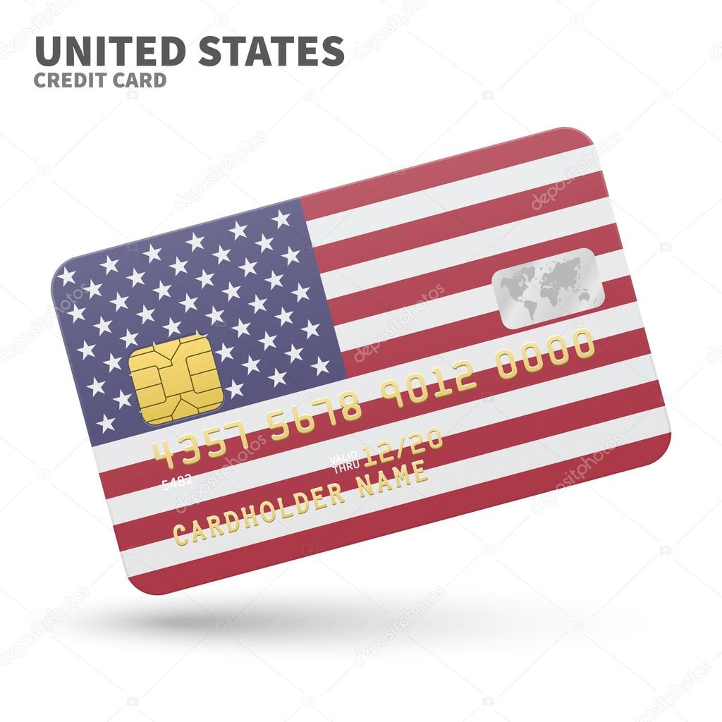 Credit card with united states flag background for bank credit card with united states flag background for bank presentations and business isolated on white background vector illustration vector by tkacchuk colourmoves