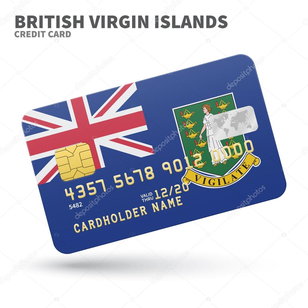 Credit card with british virgin islands flag background for bank credit card with british virgin islands flag background for bank presentations and business isolated reheart Choice Image