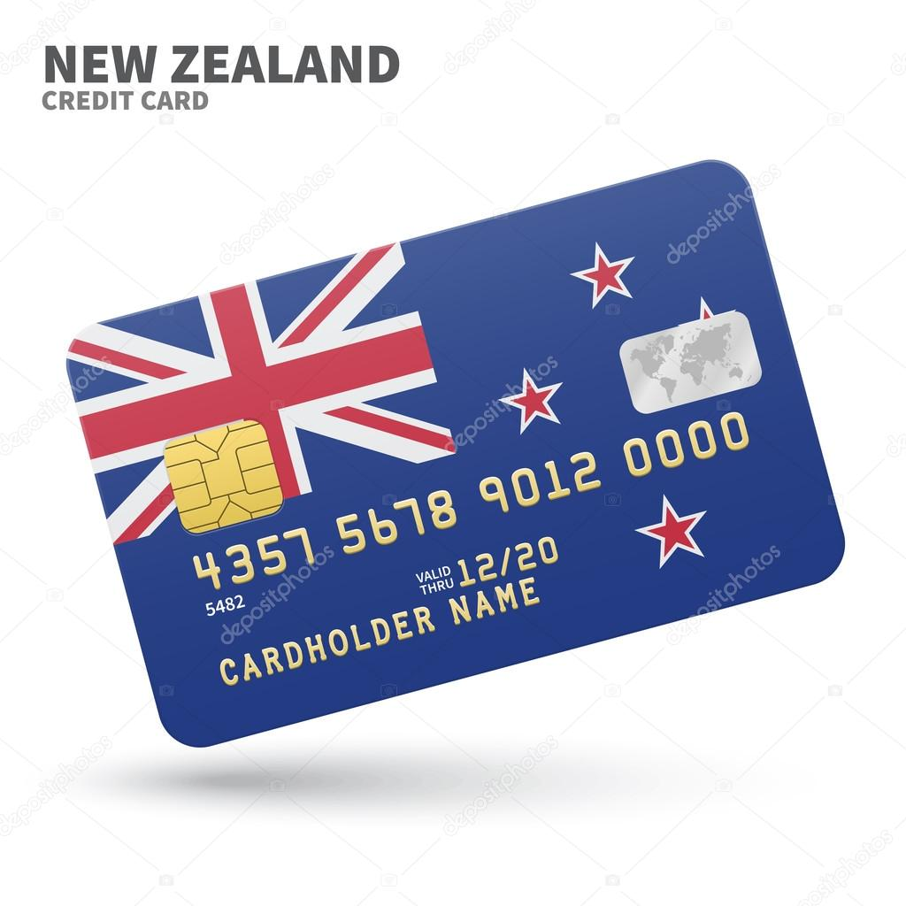 Credit card with new zealand flag background for bank presentations credit card with new zealand flag background for bank presentations and business isolated on reheart Choice Image