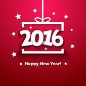 Bílá kniha dárkový box s 2016 novoroční pozdrav card