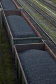 Fotografie Cargo-Autos mit Kohle