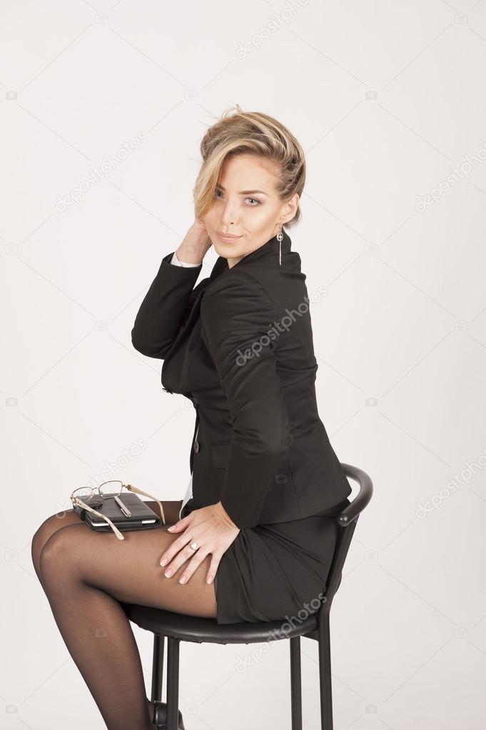 Business Frau Eine Frisur Machen Stockfoto C 79photo79 62392467