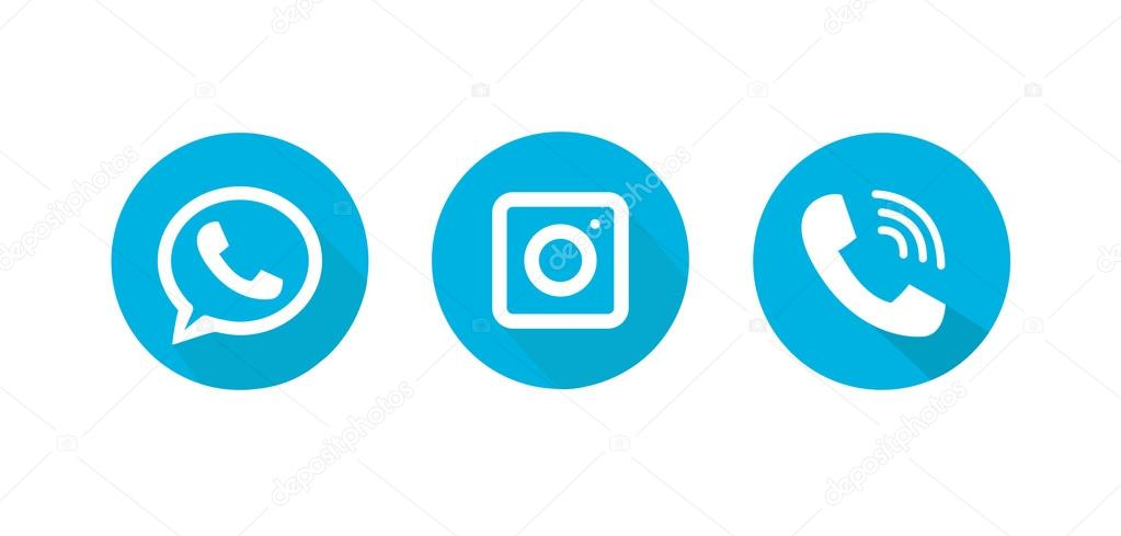 icons for phone in the style of flat stock vector renastocker