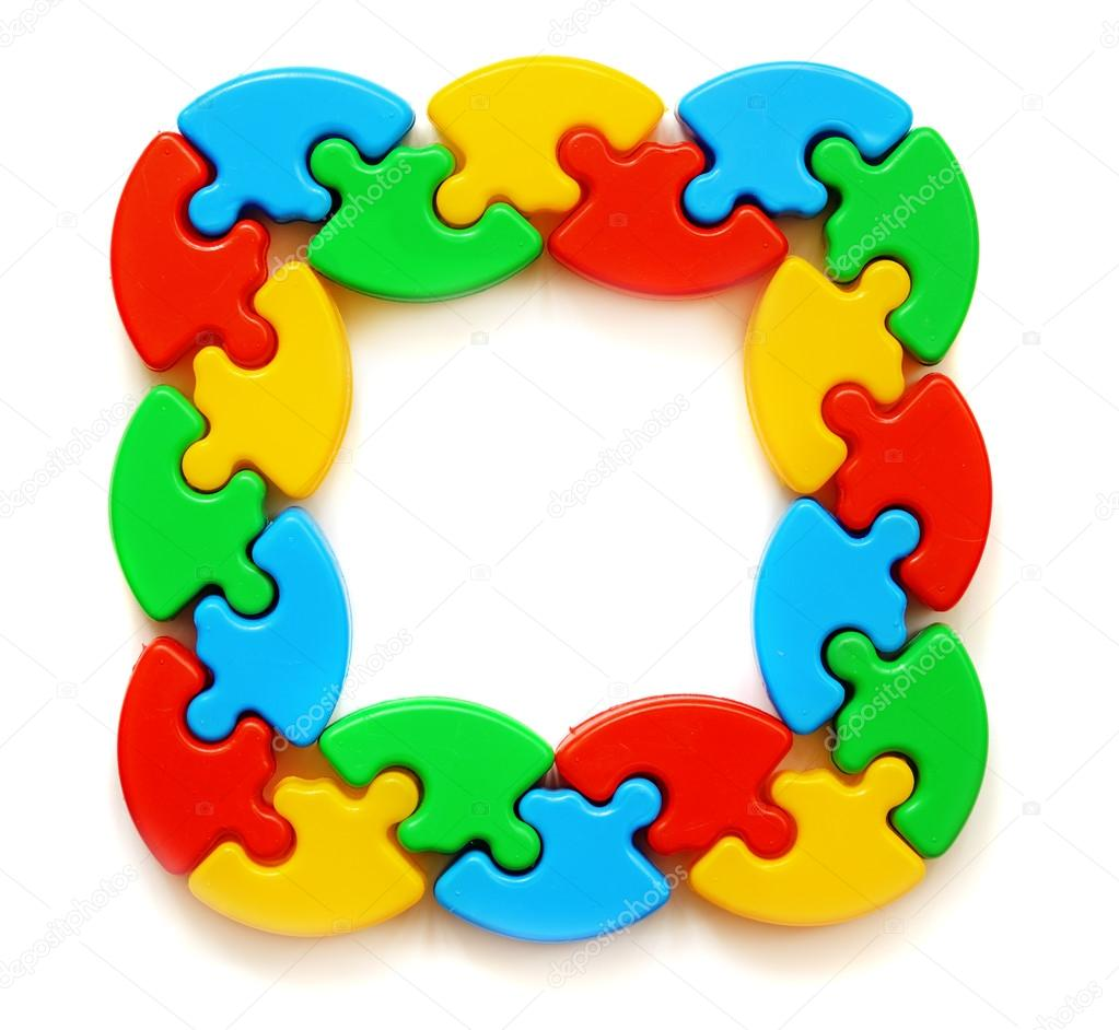 Rahmen der farbigen puzzles — Stockfoto © ksushsh #106751908