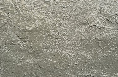 Carelessly painted gray wall