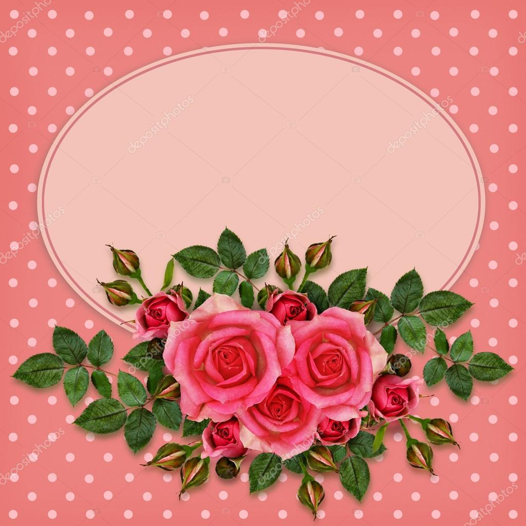 Composición De Flores Rosas Rosadas Fotos De Stock Ksushsh 63515157