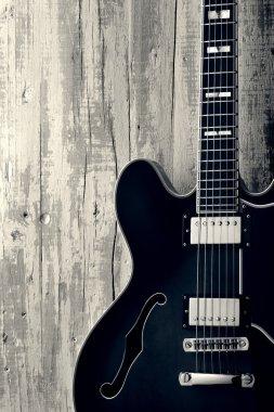 blues guitar vintage photo
