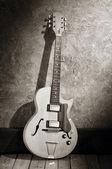 Photo vintage jazz guitar