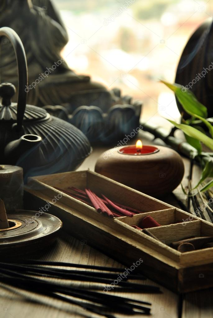 VARIOUS TYPES OF INCENSE — Stock Photo © expressiovisual #68452159