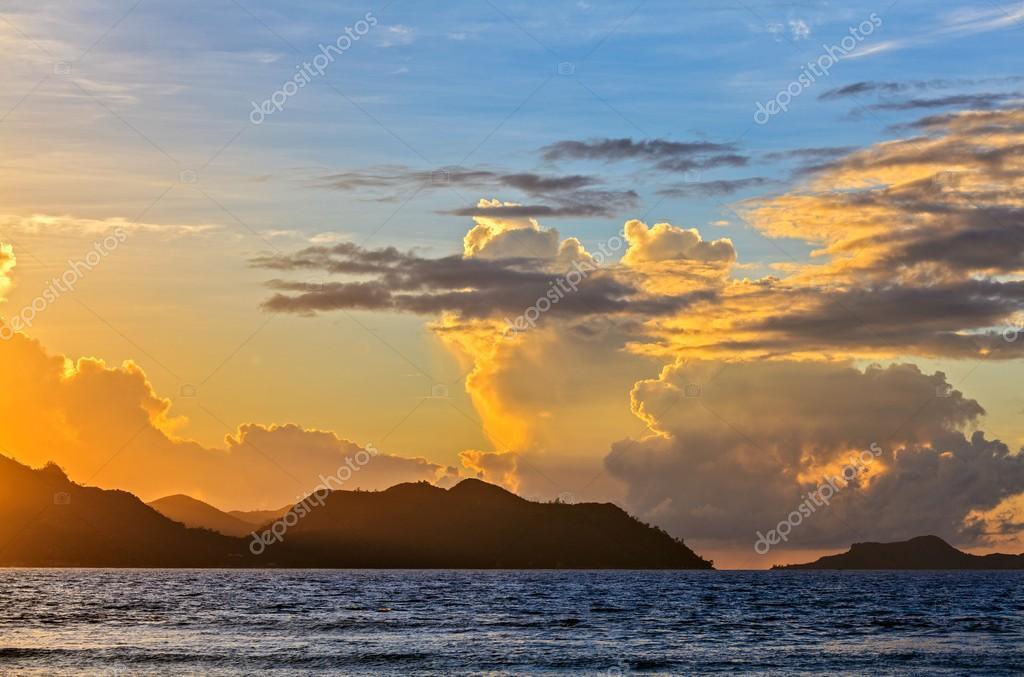 Soft sunset inThe Indian Ocean