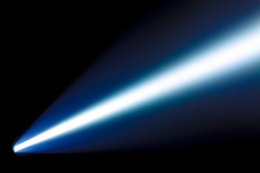 Beam from the flashlight