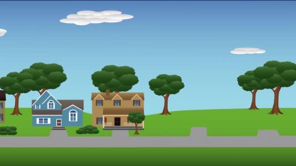 Suburban houses popping up 4K
