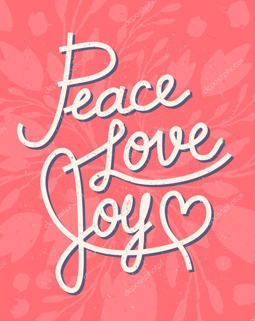 Peace Love Joy Quotes Stunning Peace Love Joy Christmas Lettering Quote For Invitations Gree