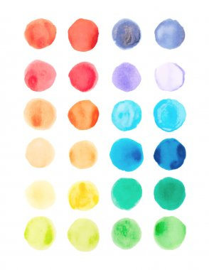 Watercolor paints palette, vector illustration clip art vector