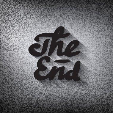 Old movie ending screen, stylised noir