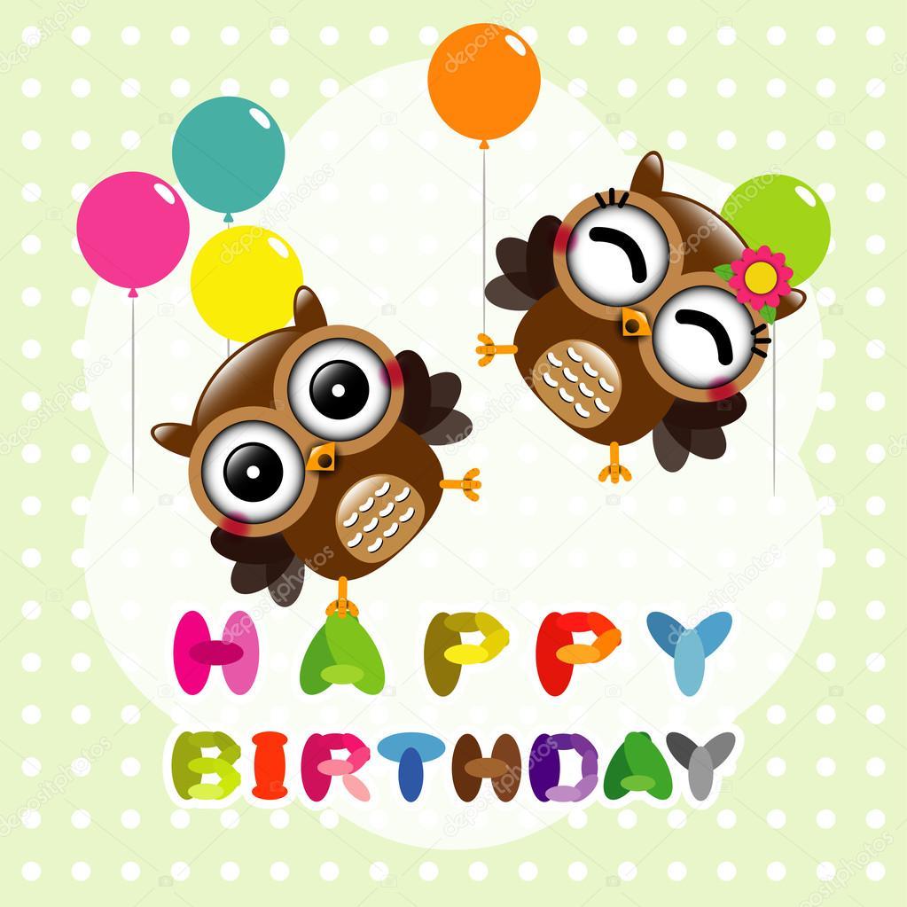 с днем рождения картинки совы