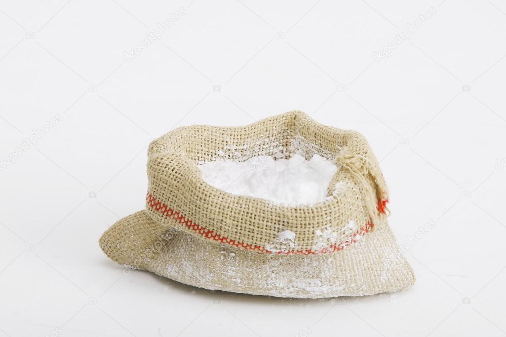 粉砂糖やキャンバス バッグで薬のイラスト ストック写真 Nemar74