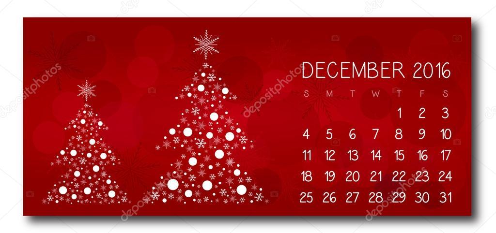 calendario de navidad rojo diciembre de u ilustracin de stock