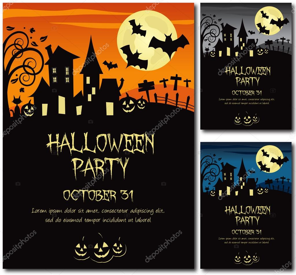 Halloween party invitation poster — Stock Vector © Juliedeshaies ...