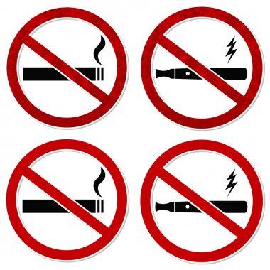 No smoking sign vector cigarette and vaporizer
