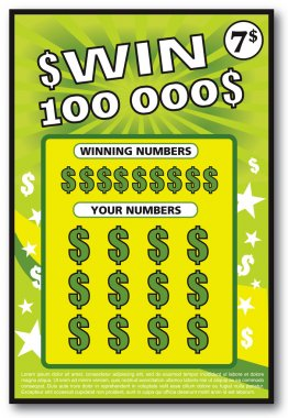 instant lottery ticket scratch off
