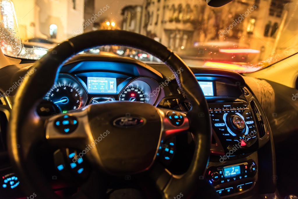 Ford Focus Compact Car Dashboard Lights Stock Editorial Photo